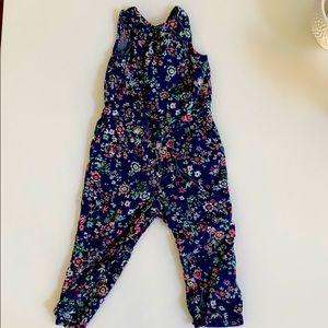 BabyGap Floral Jumpsuit Size 2 (Toddler)
